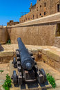Citadel cannon of the fortified of gozo in malta Stock Image