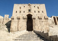 Citadel gate in aleppo syria old town Stock Image