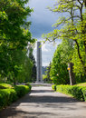 Citadel park at the end of an path at a in poznan poland Stock Photos