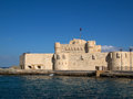 Citadel of qaitbay fort in alexandria egypet Royalty Free Stock Photography