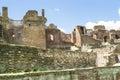 Citadel ruins medieval of a with thick defense brick walls Royalty Free Stock Photo