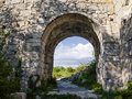 Citadel the ruins of in the nature reserve mangup kale crimea Stock Photos