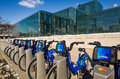 Citi bike in nyc new york city usa february is new york city s sharing system on february intended to provide people with an Royalty Free Stock Photo