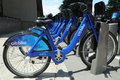 Citi bike station in lower manhattan new york august on august nyc share system started and brooklyn on may Stock Photo