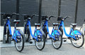 Citi bike station in manhattan brooklyn new york june on june nyc share system started and brooklyn on may Stock Photo