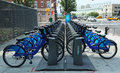 Citi bike station in manhattan new york city july on july nyc share system started and brooklyn on may Royalty Free Stock Image