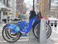 Citi bike station in manhattan new york march on march nyc share system started and brooklyn on may Stock Photos