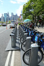 Citi bike station ready for business in new york may on may nyc share system to hit the road manhattan and Stock Images