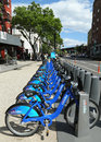 Citi bike station ready for business in new york may on may nyc share system to hit the road manhattan and Royalty Free Stock Photography