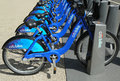 Citi bike station ready for business in new york may on may nyc share system to hit the road manhattan and Royalty Free Stock Photos
