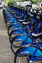 Citi bike station ready for business in new york nyc share system to hit the road manhattan and brooklyn on Royalty Free Stock Photography