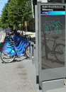 Citi bike station in williamsburg section of brooklyn new york june on june nyc share system started manhattan Stock Photo