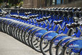 Citi bikes manhattan citibike bicycles on the street in nw york city Royalty Free Stock Photography