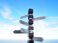 Cities signpost cape of good hope town south africa Royalty Free Stock Image
