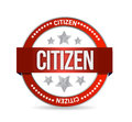 Citizen stamp seal illustration design over a white background Royalty Free Stock Photos