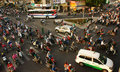 Citizen transport by motorcycles, vietnam Royalty Free Stock Photo