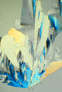 Citric acid crystal of seen through microscope in polarized light Royalty Free Stock Image