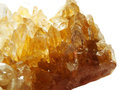 Citrine geode geological crystals semigem mineral Stock Images