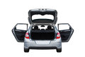 Citroën C4 isolated rear Royalty Free Stock Photo