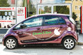 Citroën e car electrically powered in a german dealership Stock Images