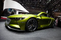 Citroen ds e tense electric performance concept geneva switzerland march geneva motor show on march in geneva front side view Royalty Free Stock Photo
