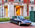 Citroen ds rotterdam netherlands august retro vehicle at the city street near the old building Royalty Free Stock Images