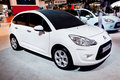 Citroen för bil c3 white Arkivfoto