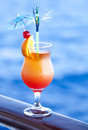 Citrus cocktail cold during travel holiday Stock Image