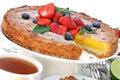 Citrus cream tart Royalty Free Stock Photo