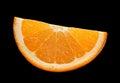 Citrus fruit on black Royalty Free Stock Photo