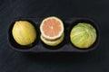 Citrus fruit pink tiger lemon Royalty Free Stock Photo