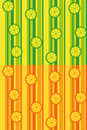 Citrus fruit seamless patterns lime and orange version of a pattern Royalty Free Stock Photo