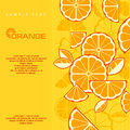 Citrus fruit slices background in yellow text illustra illustration Royalty Free Stock Photography