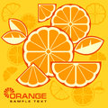 Citrus fruit slices background in yellow text illustration Royalty Free Stock Image