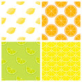 Citrus fruits bright vector seamless pattern Royalty Free Stock Photo