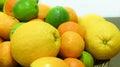 Citrus fruits closer look Royalty Free Stock Photo