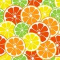 Citrus fruits seamless pattern. Vector illustration
