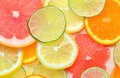 Citrus fruits slices details of Royalty Free Stock Photos