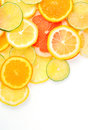 Citrus fruits slices details of Stock Photos