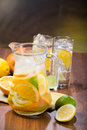 Citrus Ice Water Royalty Free Stock Photo