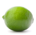 Citrus lime fruit isolated on white background cutout Royalty Free Stock Photo