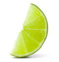 Citrus lime fruit segment isolated on white background cutout the Stock Photo