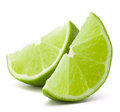 Citrus lime fruit segment isolated on white background cutout the Royalty Free Stock Image