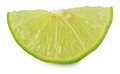 Citrus lime fruit segment isolated on white background cutout Royalty Free Stock Photo