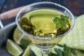 Citrus Lime Martini Royalty Free Stock Photo
