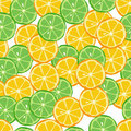 Citrus seamless pattern Royalty Free Stock Photography