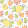 Citrus seamless pattern Royalty Free Stock Photo