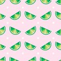 Citrus seamless pattern. lime slices, seamless pattern. tropical fruits print