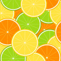 Citrus seamless tecture with juicy lemons limes and oranges Stock Image