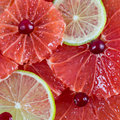 Citrus slices background grapefruit lime square Royalty Free Stock Photos